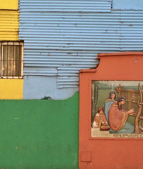 Local Colours in Buenos Aires (La Boca) by Rosemary Clark